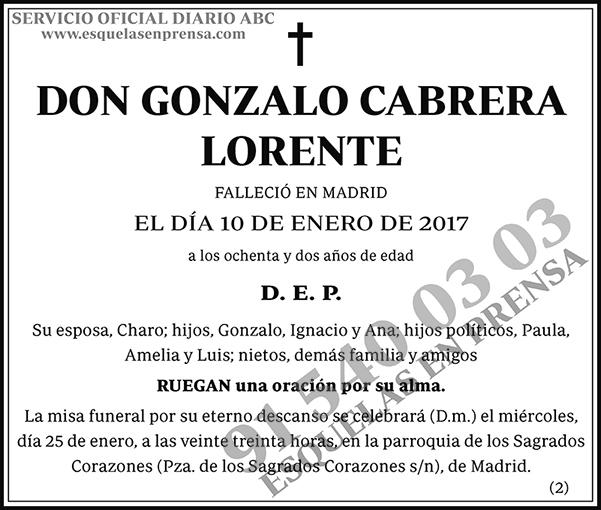Gonzalo Cabrera Lorente